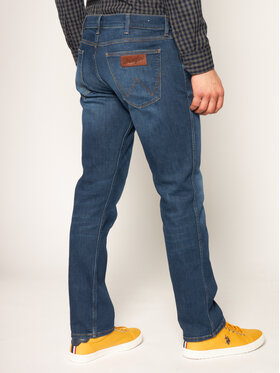 Wrangler Wrangler Jeansy Regular Fit Greensboro W15QCJ027 Granatowy Regular Fit