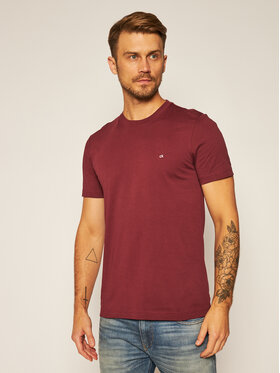 Calvin Klein Calvin Klein T-shirt Logo Embroidery K10K103076 Bordeaux Regular Fit