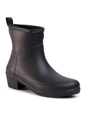 Hunter Hunter Guminiai batai Refined Low Heel Ankle Biker Juoda