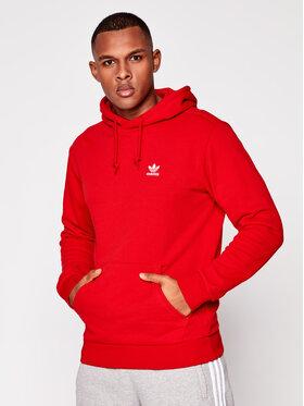 adidas adidas Bluza Trefoil Essentials GN3389 Czerwony Regular Fit