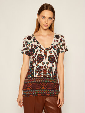 Desigual Desigual T-shirt Benin 20WWTKAL Blanc Regular Fit