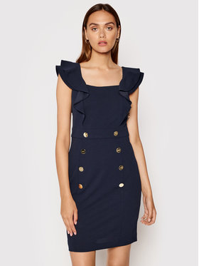 DKNY DKNY Kokteilinė suknelė DD1E2558 Tamsiai mėlyna Slim Fit