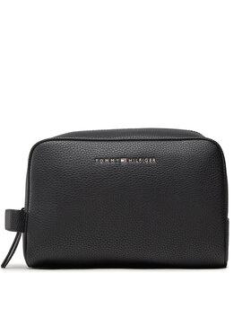 Tommy Hilfiger Tommy Hilfiger Kosmetický kufřík Essential Pu Washbag AM0AM07826 Černá
