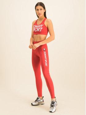 Tommy Sport Tommy Sport Leginsai Logo S10S100345 Raudona Slim Fit