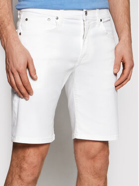 Pepe Jeans Pepe Jeans Džínsové šortky Cane PM800543 Biela Slim Fit