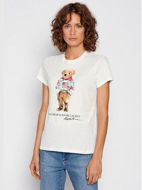 Polo Ralph Lauren Polo Ralph Lauren T-Shirt 211843279001 Biały Regular Fit