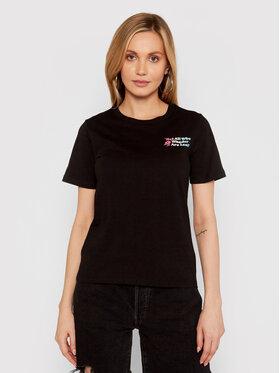 Converse Converse T-shirt Exploration Team 10022260-A01 Crna Standard Fit