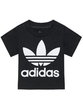 adidas adidas Marškinėliai Trefoil DV2829 Juoda Regular Fit