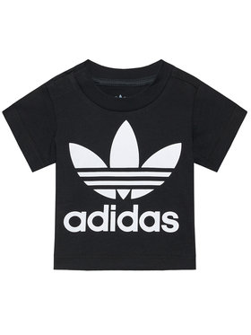 adidas adidas T-Shirt Trefoil DV2829 Czarny Regular Fit