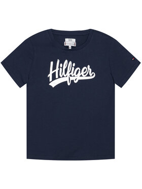 TOMMY HILFIGER TOMMY HILFIGER T-shirt Foil Tee KG0KG05545 Blu scuro Regular Fit