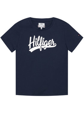 TOMMY HILFIGER TOMMY HILFIGER T-Shirt Foil Tee KG0KG05545 Σκούρο μπλε Regular Fit