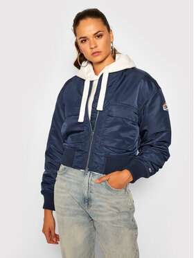 Tommy Jeans Tommy Jeans Bomber striukė Gathering DW0DW08575 Tamsiai mėlyna Regular Fit