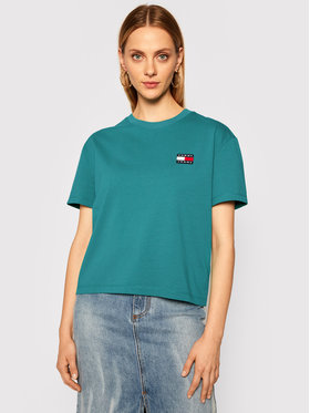 Tommy Jeans Tommy Jeans Tricou Badge Tee DW0DW06813 Verde Regular Fit