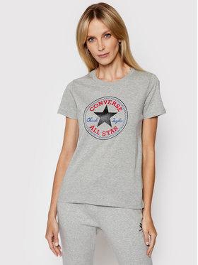 Converse Converse T-Shirt Chuck Taylor Patch Nova 10017759 Szary Standard Fit