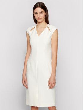 Boss Boss Sukienka codzienna Dulipa 50451351 Biały Slim Fit
