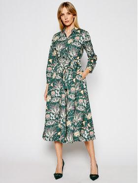 Marella Marella Košeľové šaty Gerico 32212611 Zelená Regular Fit