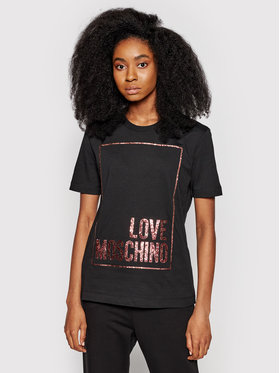 LOVE MOSCHINO LOVE MOSCHINO T-Shirt W4H0605M 3876 Schwarz Regular Fit