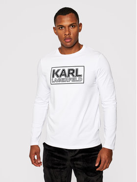 KARL LAGERFELD KARL LAGERFELD Manches longues Crewneck 755043 502221 Blanc Regular Fit
