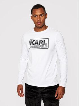 KARL LAGERFELD KARL LAGERFELD S dlhými rukávmi Crewneck 755043 502221 Biela Regular Fit