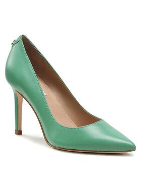 Guess Guess Pantofi cu toc subțire Dafne4 FL5DAF LEA08 Verde
