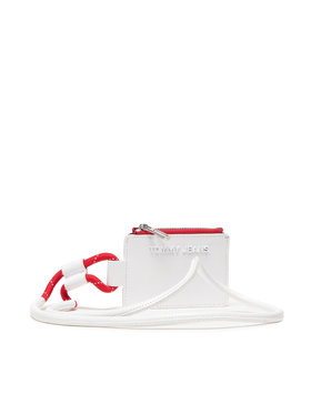 Tommy Jeans Tommy Jeans Custodie per carte di credito Ess Hanging Wallet Crinkle AW0AW10205 Bianco