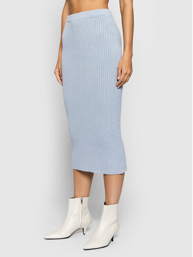 Kontatto Kontatto Puzdrová sukňa 3M8337 Modrá Slim Fit