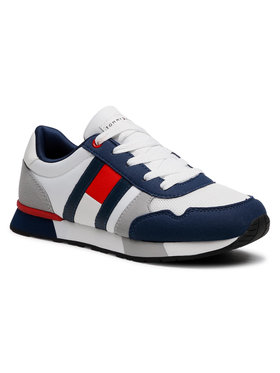 Tommy Hilfiger Tommy Hilfiger Sneakersy Low Cut Lace-Up Sneaker T3B4-31092-0732 S Biały