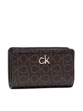 Calvin Klein Calvin Klein Portofel Mare de Damă Billfold French Wallet Monogram K60K608328 Maro