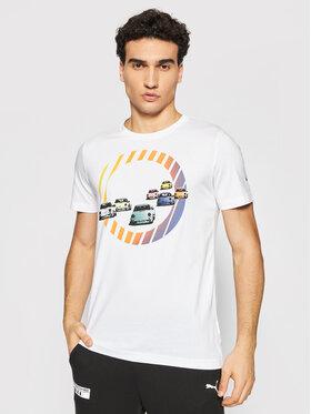 Puma Puma T-Shirt Pl Graphic Tee 599751 Biały Regular Fit