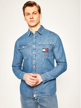 Tommy Jeans Tommy Jeans Košile Denim Badge DM0DM07918 Modrá Regular Fit