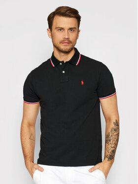 Polo Ralph Lauren Polo Ralph Lauren Pólóing Ssl 710842621001 Fekete Custom Slim Fit