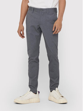 ONLY & SONS ONLY & SONS Spodnie materiałowe Mark Tap Check 22018649 Szary Tapered Fit