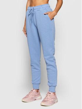 NA-KD NA-KD Spodnie dresowe Logo Basic 1044-000153-0617-003 Niebieski Regular Fit
