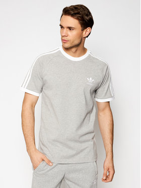 adidas adidas Marškinėliai adicolor Classics 3-Stripes GN3493 Pilka Slim Fit