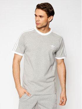 adidas adidas T-Shirt adicolor Classics 3-Stripes GN3493 Szary Slim Fit
