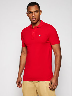 Tommy Jeans Tommy Jeans Polo Classics Solid Stretch DM0DM09439 Rosso Regular Fit