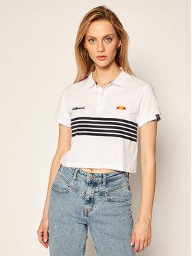 Ellesse Ellesse Тениска с яка и копчета Annamaria Crop SGE08475 Бял Regular Fit