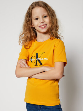 Calvin Klein Jeans Calvin Klein Jeans T-Shirt Monogram Logo IU0IU00068 Žlutá Regular Fit