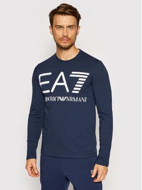 EA7 Emporio Armani EA7 Emporio Armani Тениска с дълъг ръкав 6KPT30 PJ6EZ 1554 Тъмносин Regular Fit