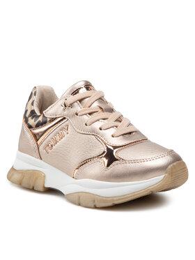 Tommy Hilfiger Tommy Hilfiger Sneakersy Low Cut Lace-Up Sneaker T3A4-31174-1243 M Złoty