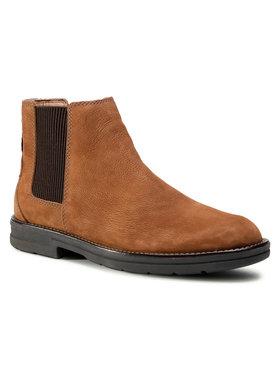 Clarks Clarks Členková obuv s elastickým prvkom Banning Limit 261517527 Hnedá