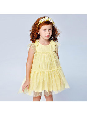 Mayoral Mayoral Φόρεμα κομψό 3913 Κίτρινο Regular Fit
