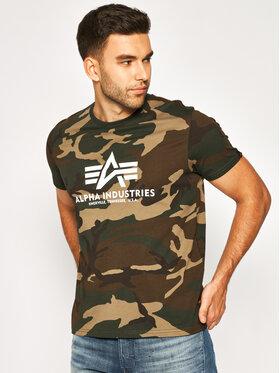 Alpha Industries Alpha Industries T-Shirt Basic 100501C Grün Regular Fit