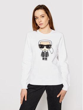 KARL LAGERFELD KARL LAGERFELD Sweatshirt Ikonik 210W1820 Blanc Regular Fit