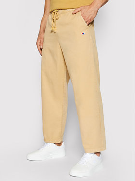 Champion Champion Текстилни панталони Track 214928 Бежов Custom Fit