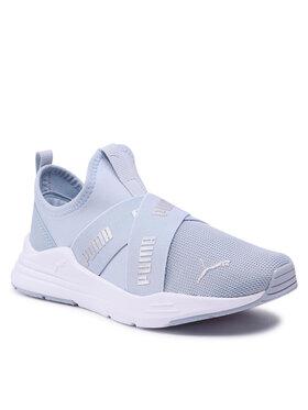 Puma Puma Sneakersy Wired Run Slip On Jr 381993 01 Modrá