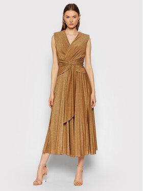 Rinascimento Rinascimento Večerné šaty CFC0105077003 Zlatá Slim Fit
