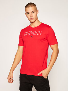 Puma Puma T-Shirt Brand Tee 584509 Červená Regular Fit