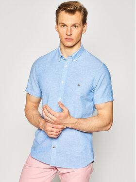 TOMMY HILFIGER TOMMY HILFIGER Chemise Linen Shirt MW0MW12777 Bleu Slim Fit