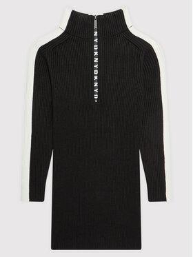 DKNY DKNY Každodenné šaty D32808 M Čierna Regular Fit